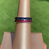 Art Deco Sapphire and Ruby Matched Bands, by Tiffany & Co 4