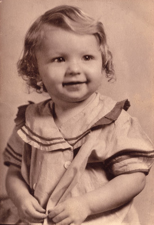 girl in sailor dress