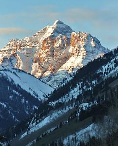 Maroon Bells in Winter - Aspen, CO