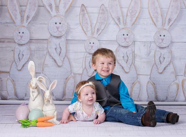 Benjamin and Hazel~Happy Easter!