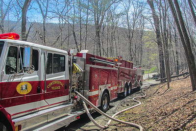 4-19-16Brush Fire Sprout Brook Road