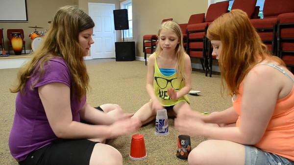 Three ladies singing