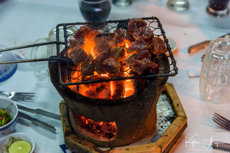 A barbecue dinner in Nha Trang.