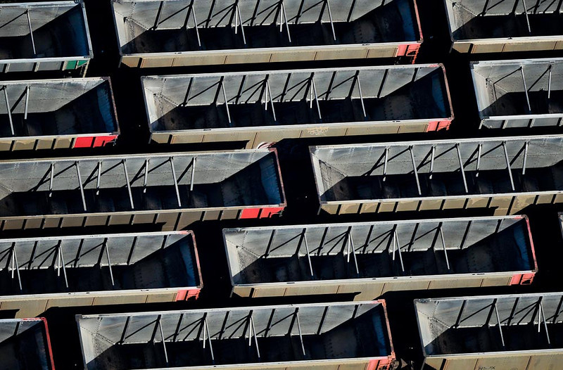 . Empty coal cars in Bayport. (Pioneer Press: Ben Garvin)