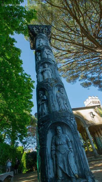 This Column adorns the Villa Cimbrone Gardens in Ravello Italy.