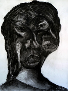"""""""Twistable Turnable Woman"""" (charcoal) by Xiao He"""