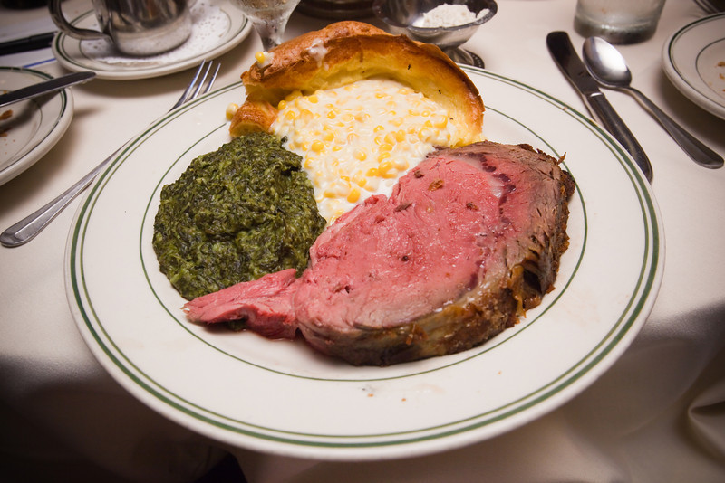 Prime rib cooked to perfection, yummy creamed spinach and corn, and tasty Yorkshire pudding...thanks to Scott (ss_md) for recommending this restaurant (even though he couldn't be here today)