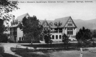 Bemis Hall in early 1900s before the Taylor Hall addition