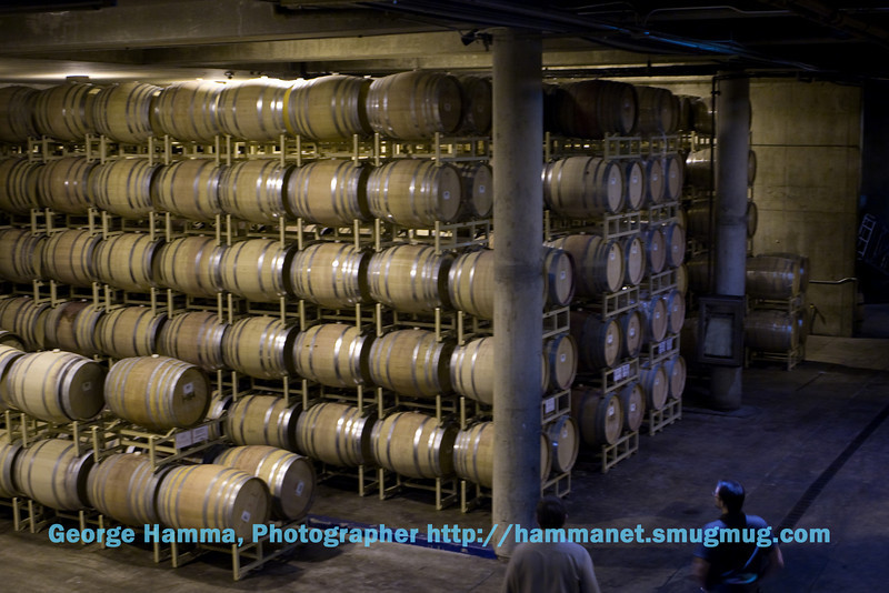 Domain Chandon, known for its sparkling wines, also has still wine products.  This is where the still wine is aged in oak barrels.