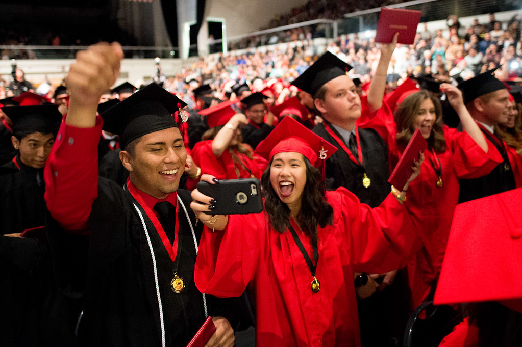 . Gladstone High School Class of 2015 commencement ceremony at Azusa Pacific University Felix Event Center in Azusa on Thursday, June 4, 2015. (Photo by Watchara Phomicinda/ San Gabriel Valley Tribune)