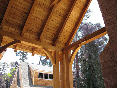 Custom Cedar Porch - Gable Bracket and Brace
