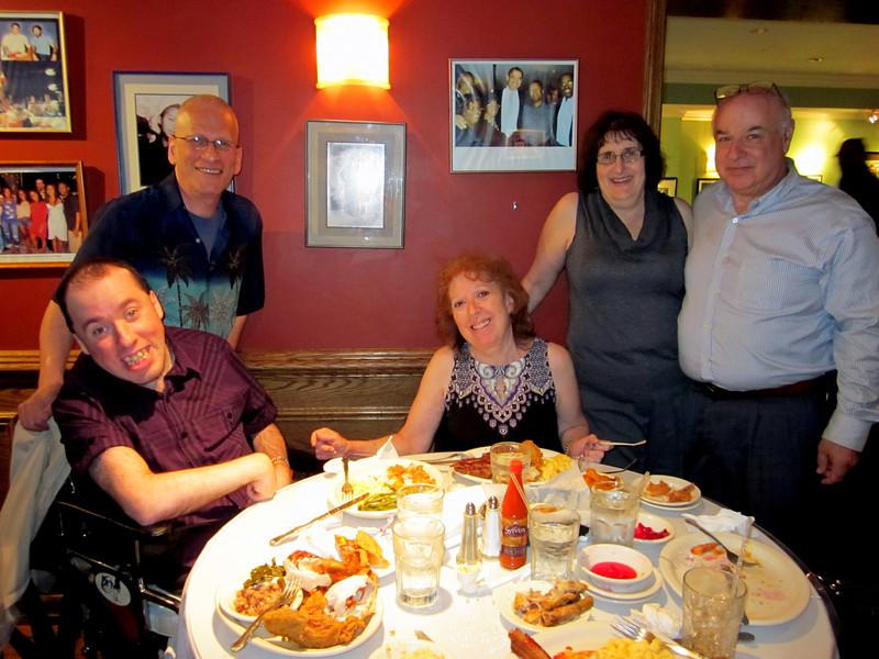 Dining at Sylvia's Resturaunt in Harlem after the screening