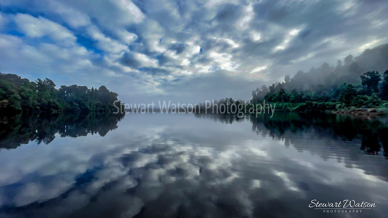 Lake Mapourika  reflections in the early morning mist