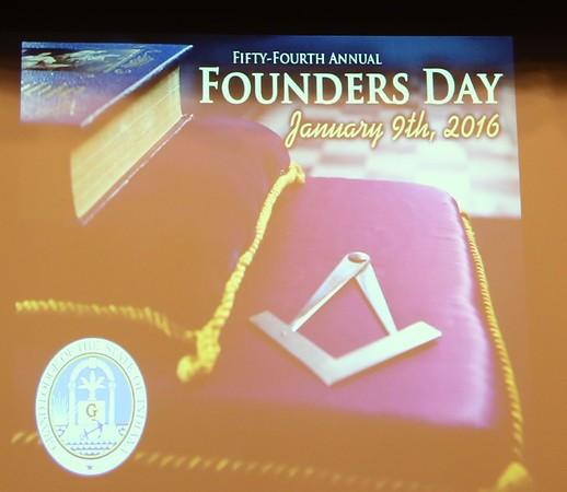 Founders Day Program 01-09-2016