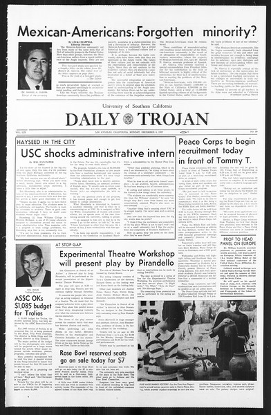 Daily Trojan, Vol. 59, No. 50, December 04, 1967