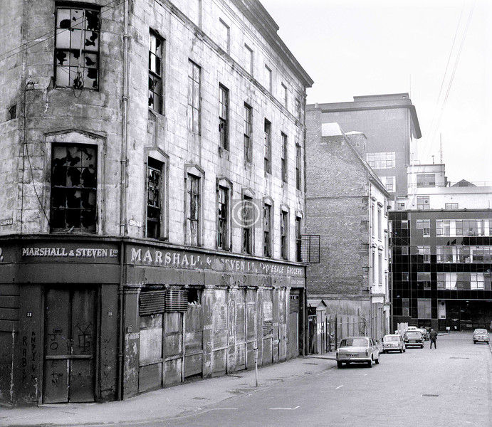College St, south side, west of College St.  April 1973