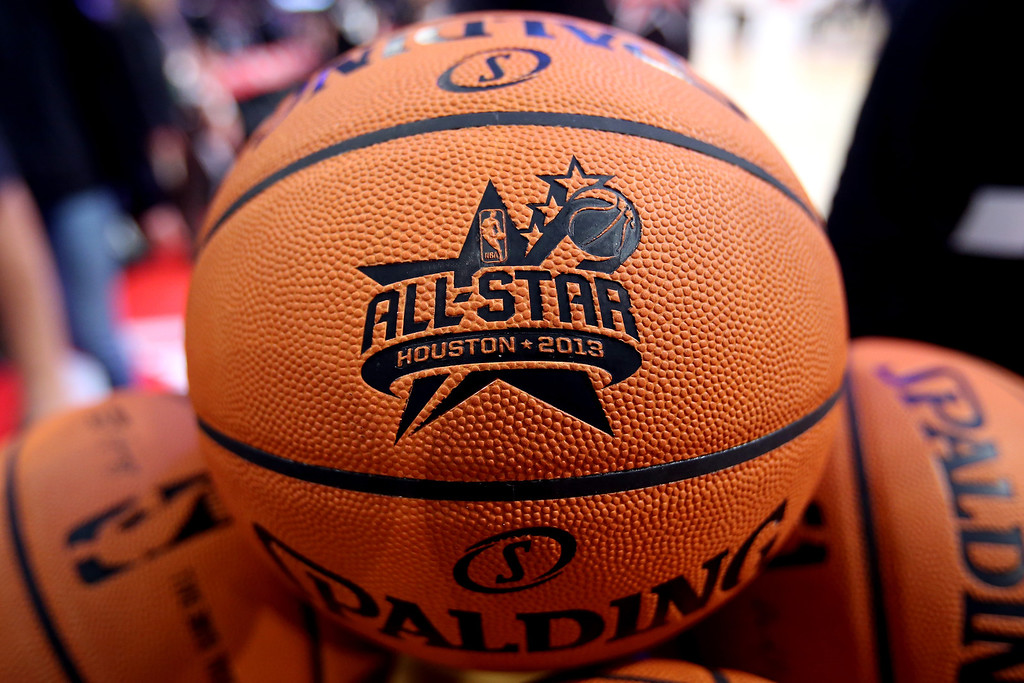 . HOUSTON, TX - FEBRUARY 16:  A rack of basketballs are seen during the Sears Shooting Stars Competition part of 2013 NBA All-Star Weekend at the Toyota Center on February 16, 2013 in Houston, Texas. (Photo by Ronald Martinez/Getty Images)