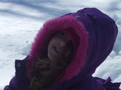 Kindergarten Plays in the Snow