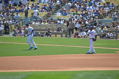 Diamond Backs at Dodgers, Top of the Fourth, 20 April 2014