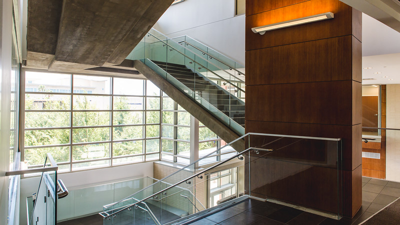 Natural light beams into the O'connor Building