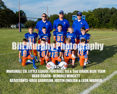 2017 1st & 2nd Grade Blue Team Marshall Co. Little League Football