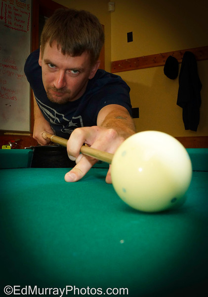 Sharp Shooter: Besides photography, I'm an avid pool player. I shoot on a 9-ball team every Thursday night. This is my team captain - Kevin Maher. He's one of the most dangerous shooters in the league.  7/24/2013