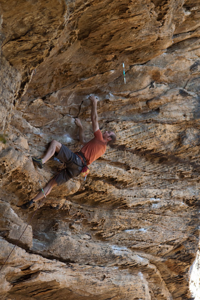 Ross cranking out the easiest 5.12b (26) ever.