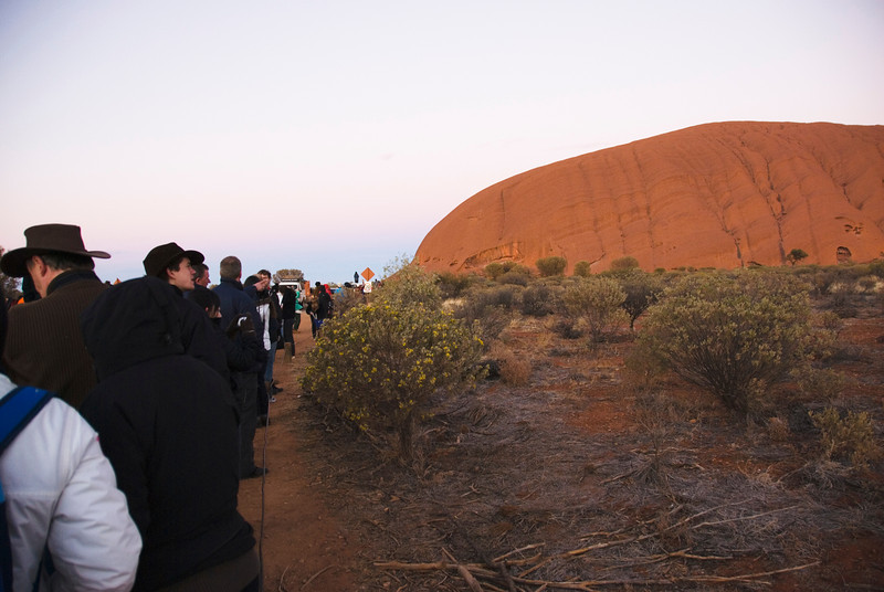 Watching Sunrise at Uluru - Northern Territory, Australia