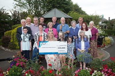 "A cheque for £20000 was presented to Southern Area Hospice in memory of Fr Gerry McArdle. Local singer/songwriter Rose Brennan launched her 5 track CD ""Hospice"" at a concert . Rose and the McArdle families wouyld like to express their thanks to everyone who contributed to the success of the project to date. R1632019"