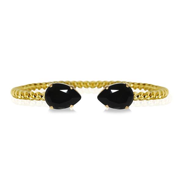 Mini Drop Bracelet / Jet Gold