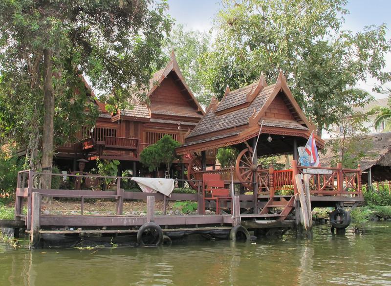 Teak house on Khlong Bangkok Noi (the former Chao Phraya River).