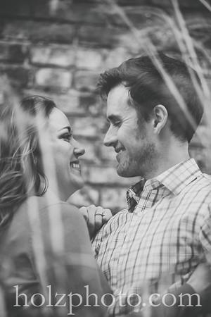 Kellie & Andrew BW Engagement Phiotos
