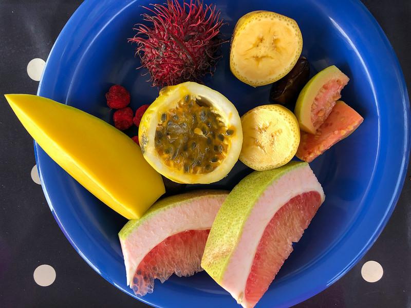 Fruit plate in Zanzibar