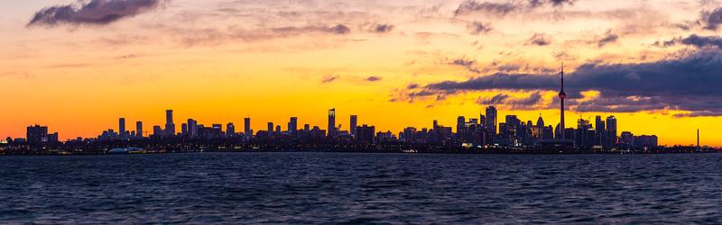Skyline in Morning Silhouette