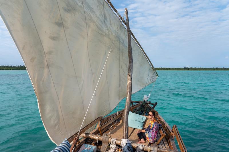 Dhow boat trip in Zanzibar