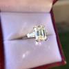 3.76ctw Emerald Cut Diamond Ring, by Leon Mege GIA H VS 3