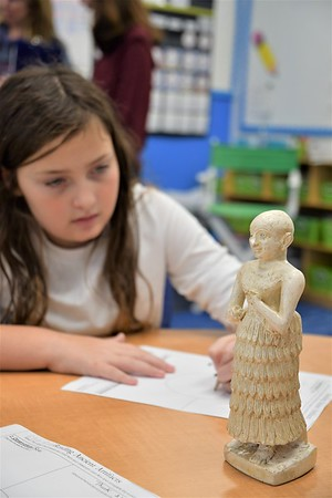 Fourth Graders Study Ancient Artifacts from the Penn Museum