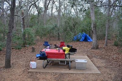 Buescher State Park camping trip