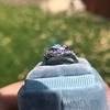 2.27ct (est) Art Deco Old European Cut Diamond with Amethyst Halo Ring 15