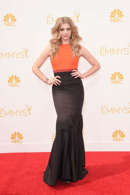 . Actress Natalie Dormer attends the 66th Annual Primetime Emmy Awards held at Nokia Theatre L.A. Live on August 25, 2014 in Los Angeles, California.  (Photo by Jason Merritt/Getty Images)