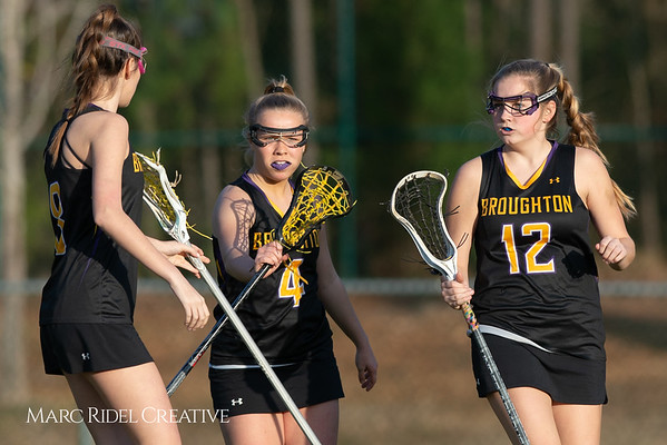 Broughton Lady Caps lacrosse at Middle Creek. February 26, 2019. D4S_1749