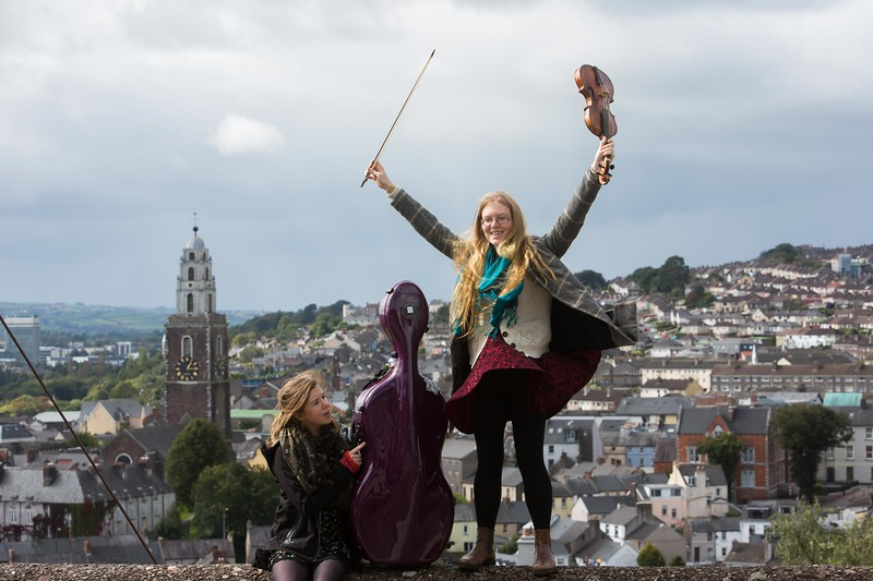 Norah O'Leary, Baroque Chello and Caitrìona O'Mahony, Baroque Violin from Ensemble Dagda launching the East Cork Early Music Festival Picture Darragh Kane
