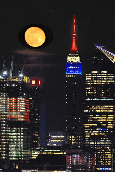NYC April Moonrise