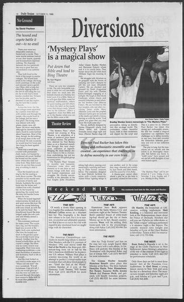 Daily Trojan, Vol. 129, No. 31, October 11, 1996