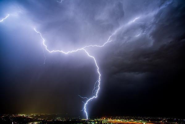 Aug 10th 2016 Lightning storm Salt Lake, Davis county