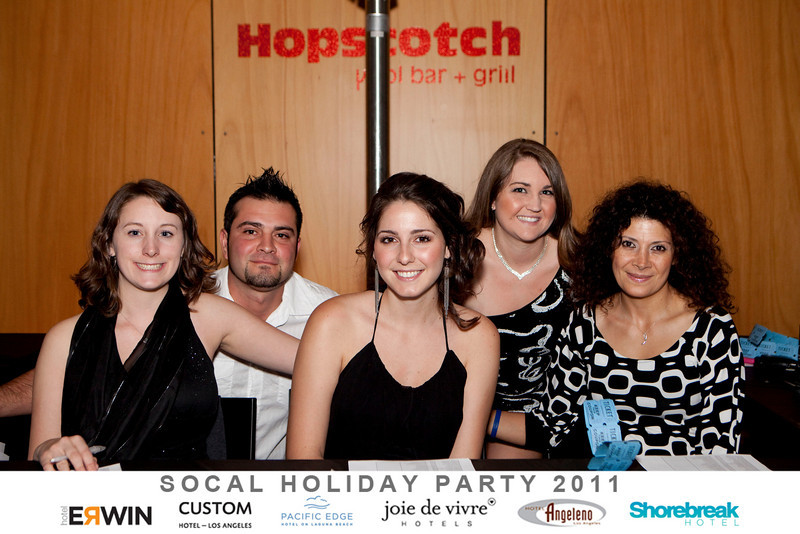 2011 SOCAL Joie De Vivre Hotels holiday party at the Custom Hotel.