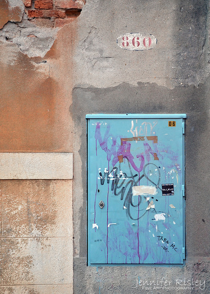 Graffiti on Blue Box