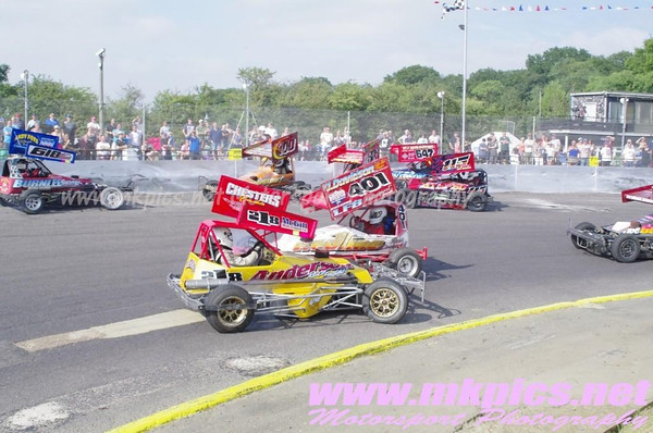 BriSCA F2 European Weekend, Sunday Support Races, Northampton 21 July 2013
