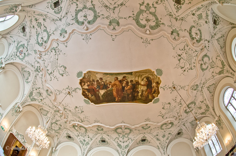 Ceiling art in our lunch dining room, Salzburg