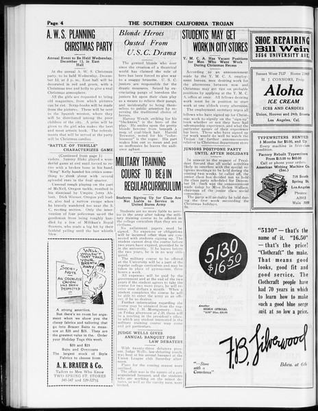 The Southern California Trojan, Vol. 8, No. 41, December 05, 1916